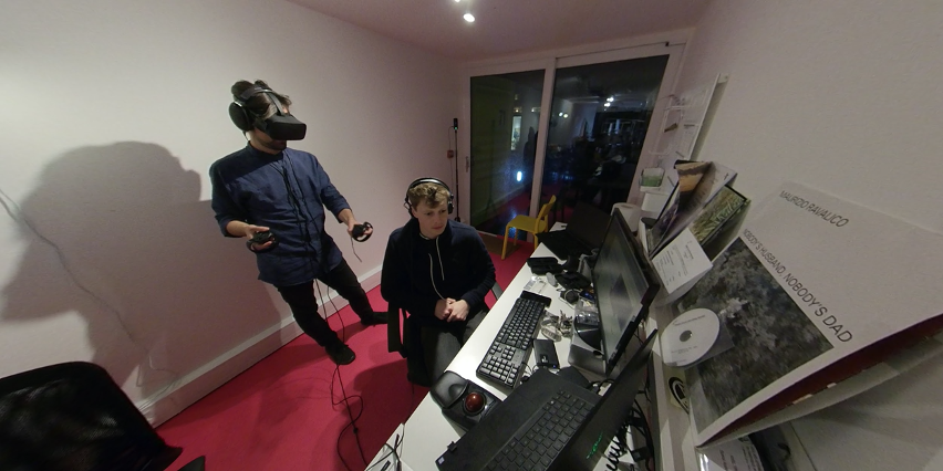 Axel Drioli working with dearVR SPATIAL CONNECT